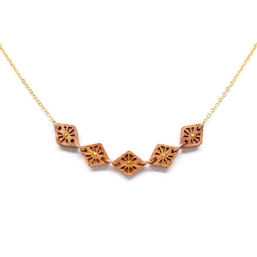 Lattice Link necklace [Mahogany]