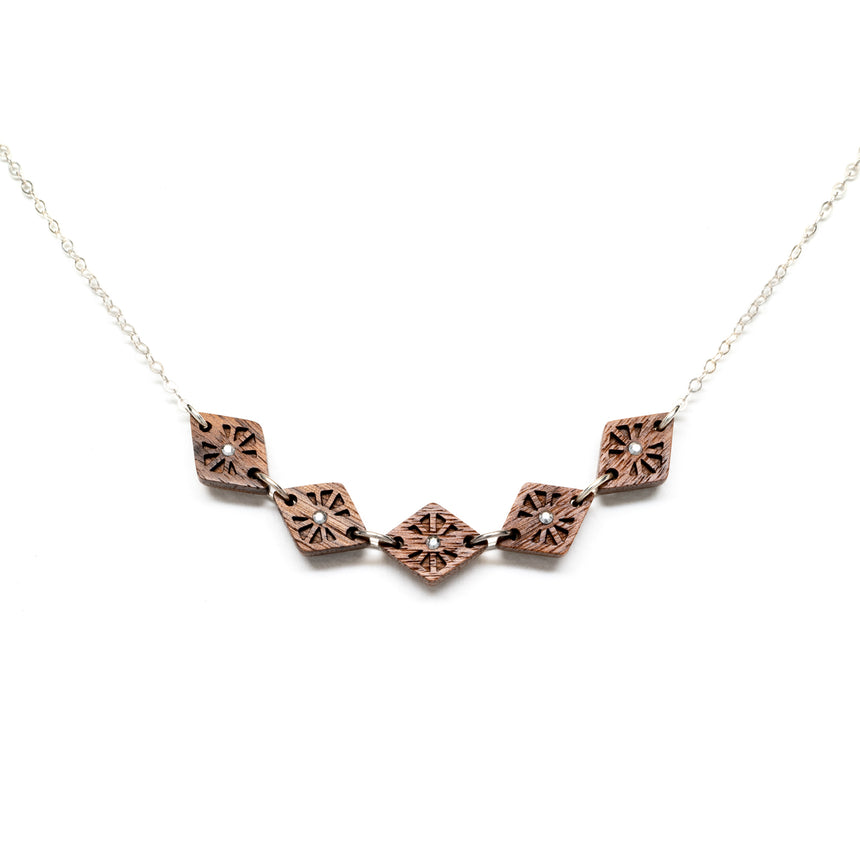 Lattice Link Necklace [Walnut]
