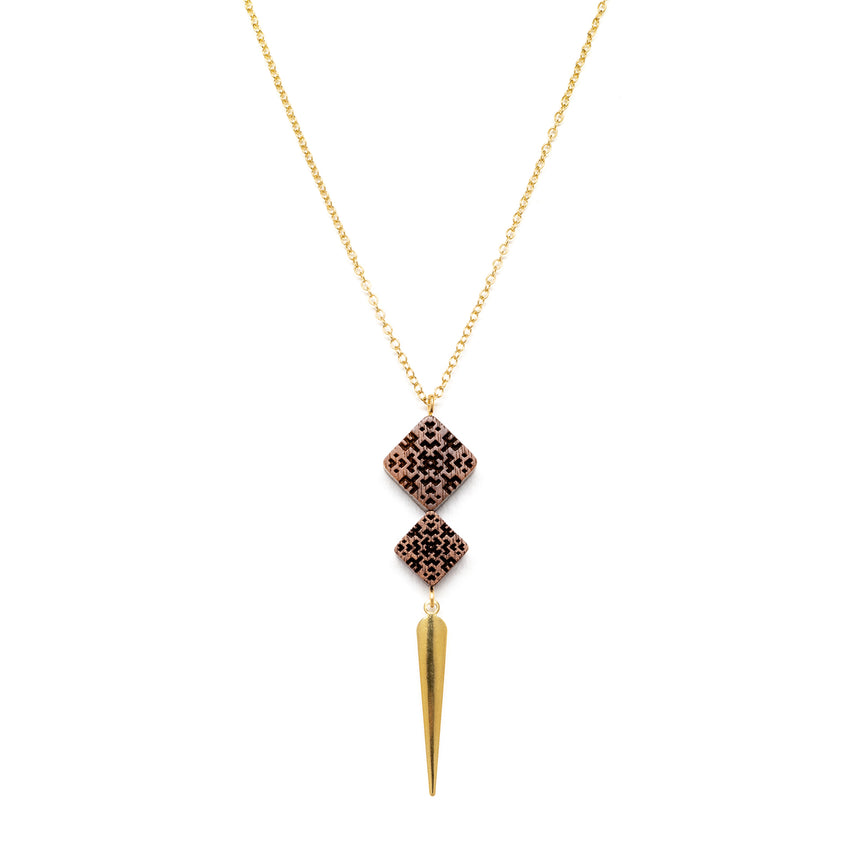 Square & Spike Necklace