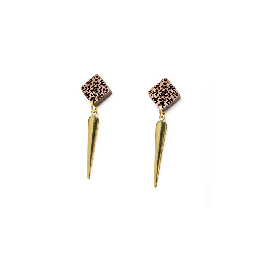 Square & Spike Earrings