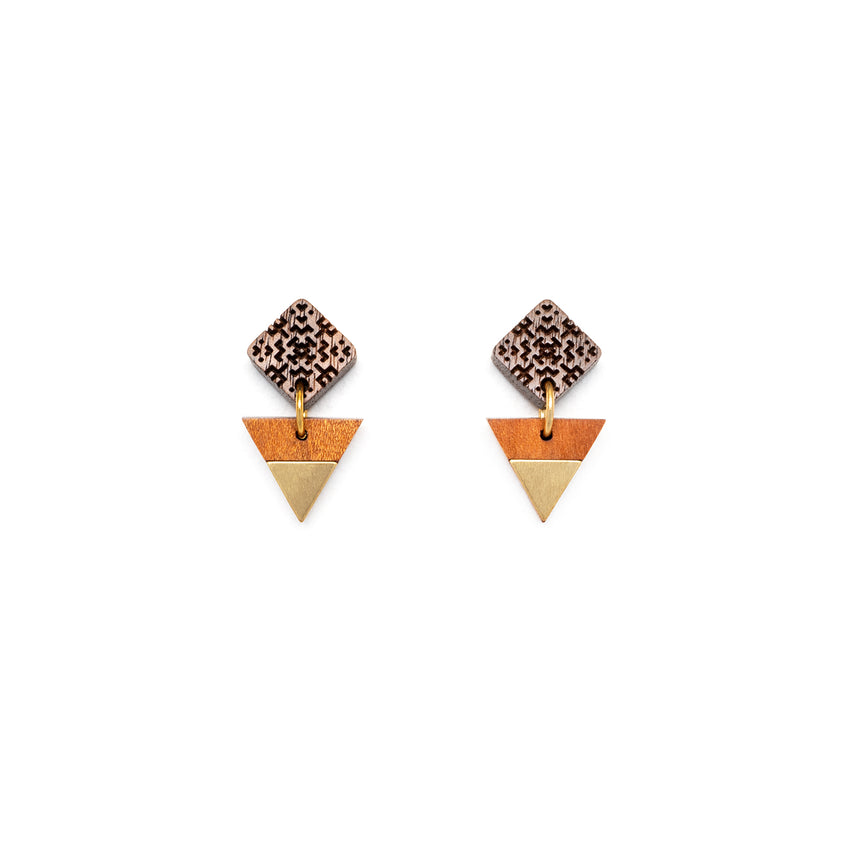 Square & Triangle Earrings