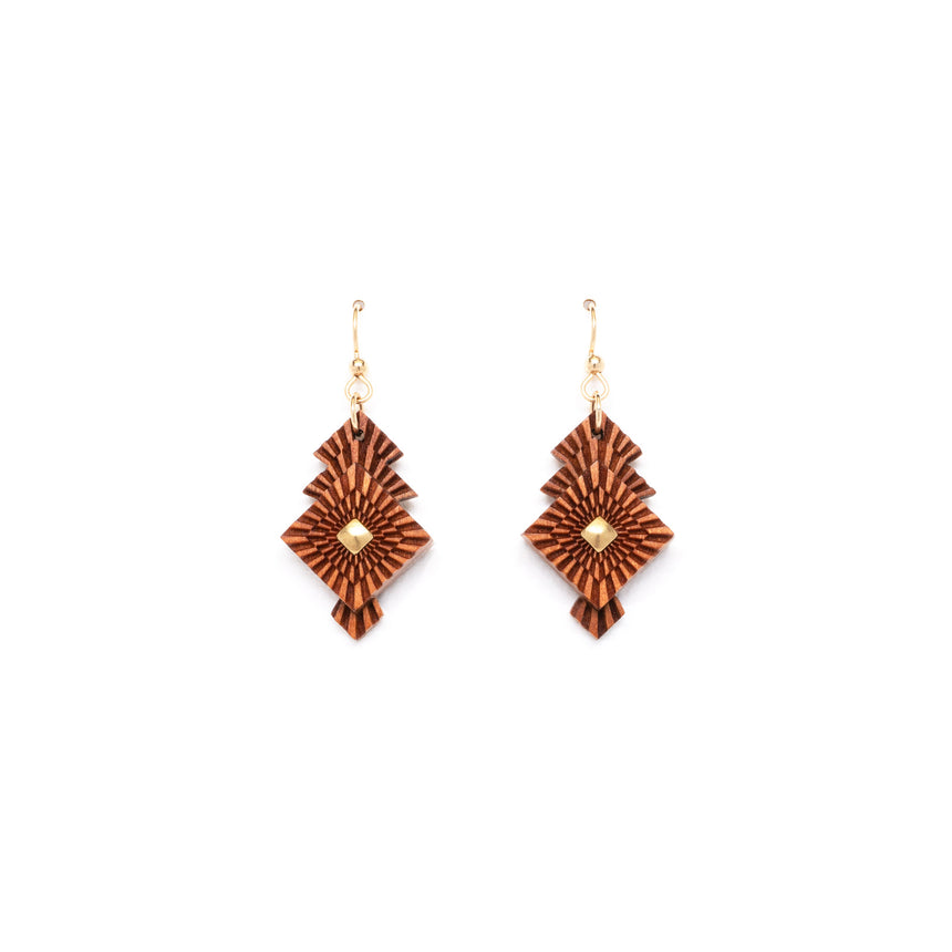 Square Foliage Earrings