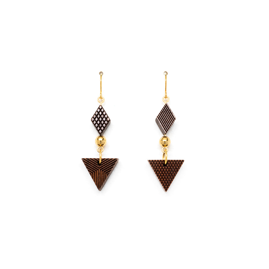 Triangle & Diamond Shaped Earrings