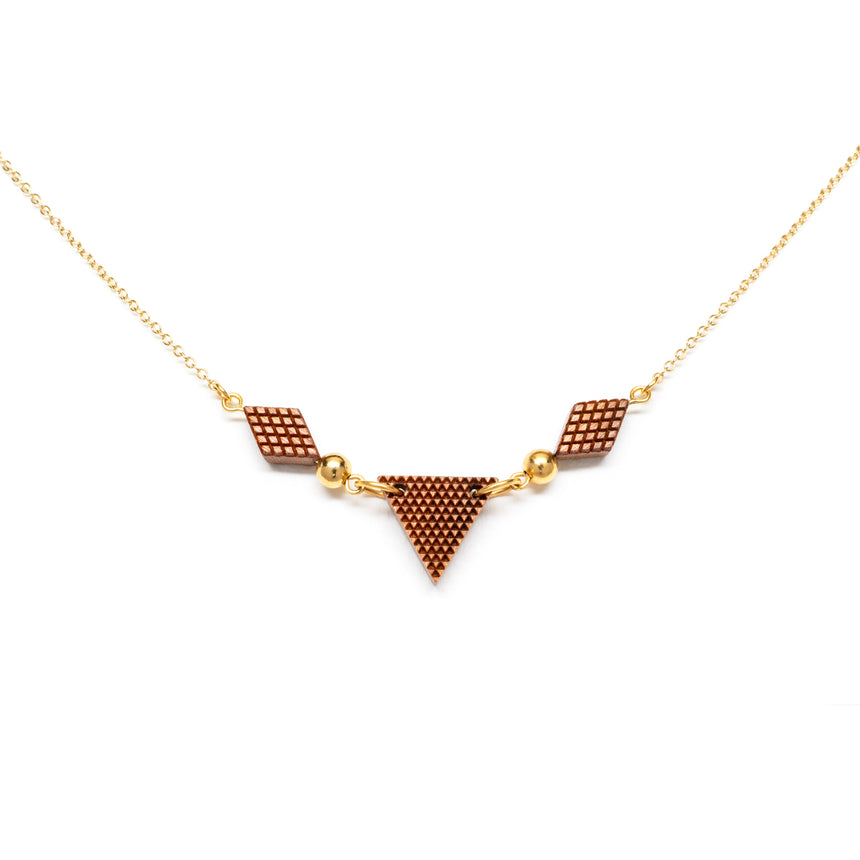 Triangle & Diamond Shaped Necklace