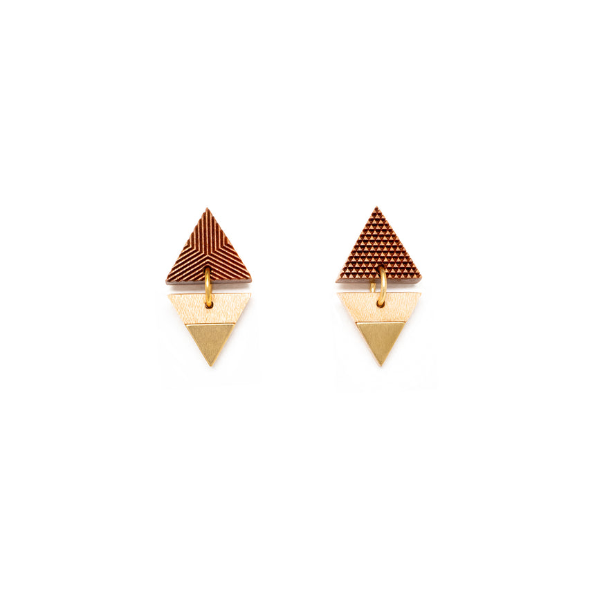 Triangle & Triangle Earrings