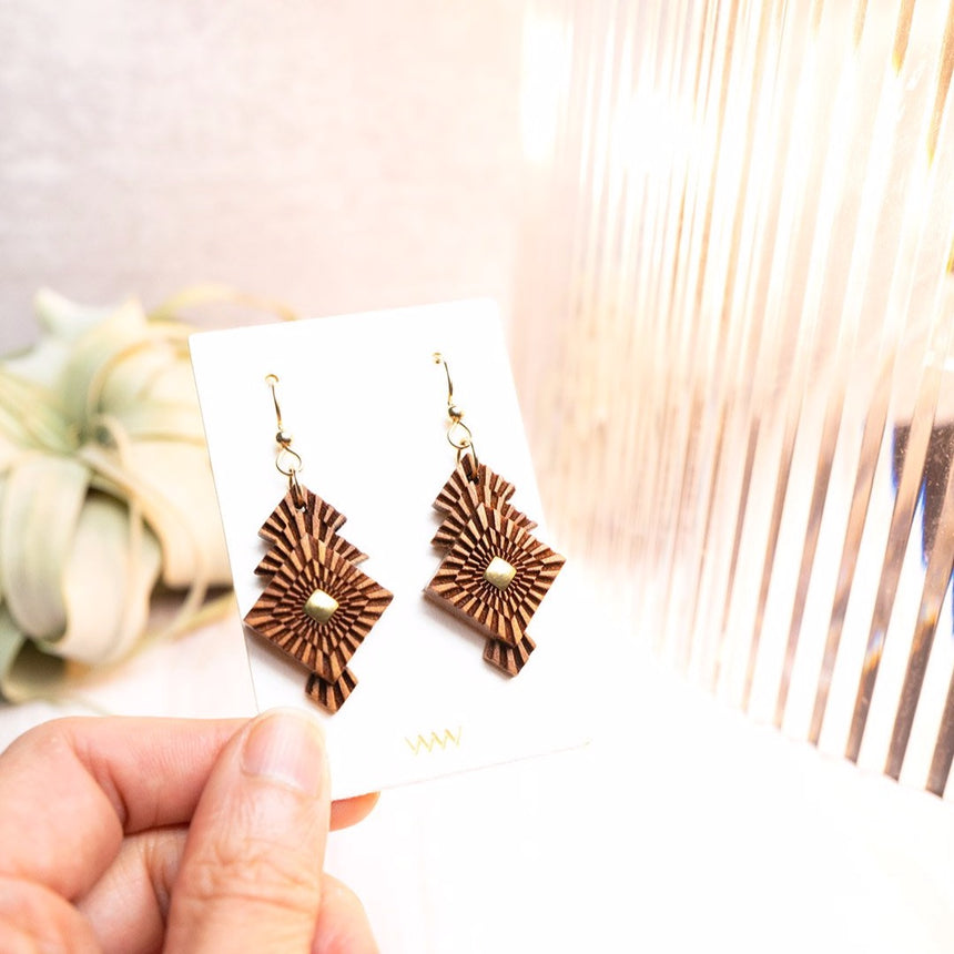 Foliage earrings by WENWEN designs
