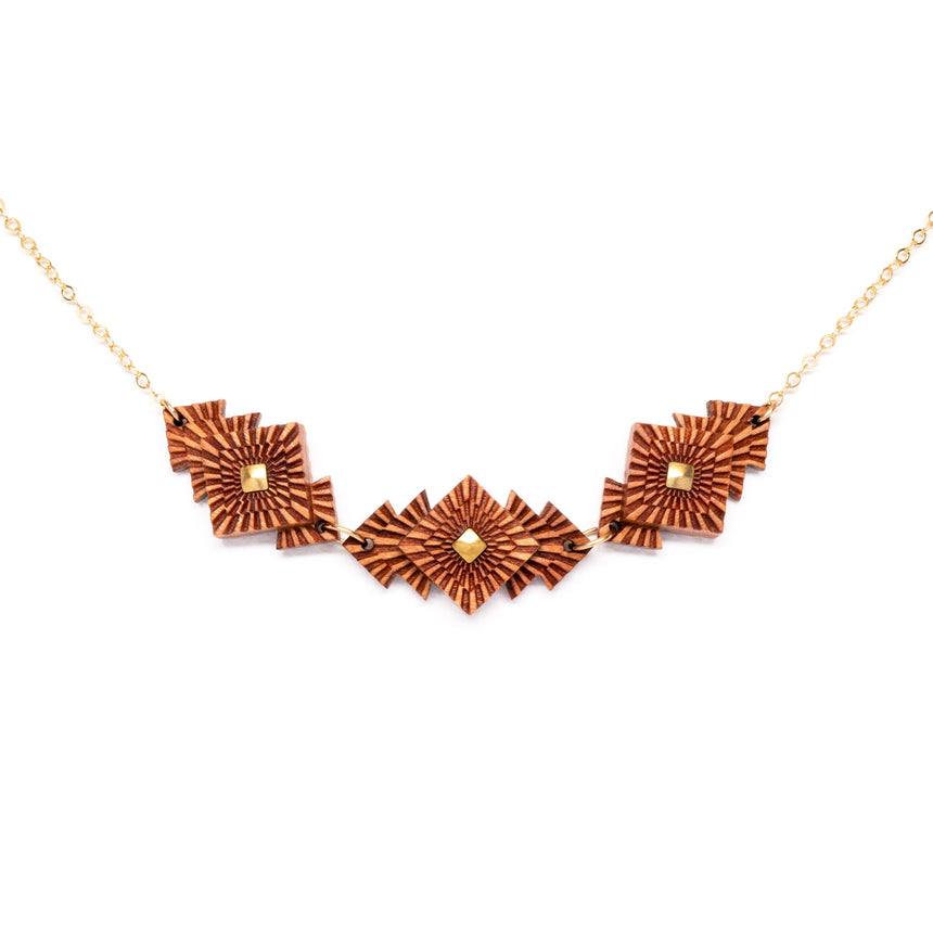 Square Foliage necklace by WENWEN designs