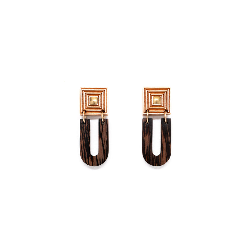Fret Earrings
