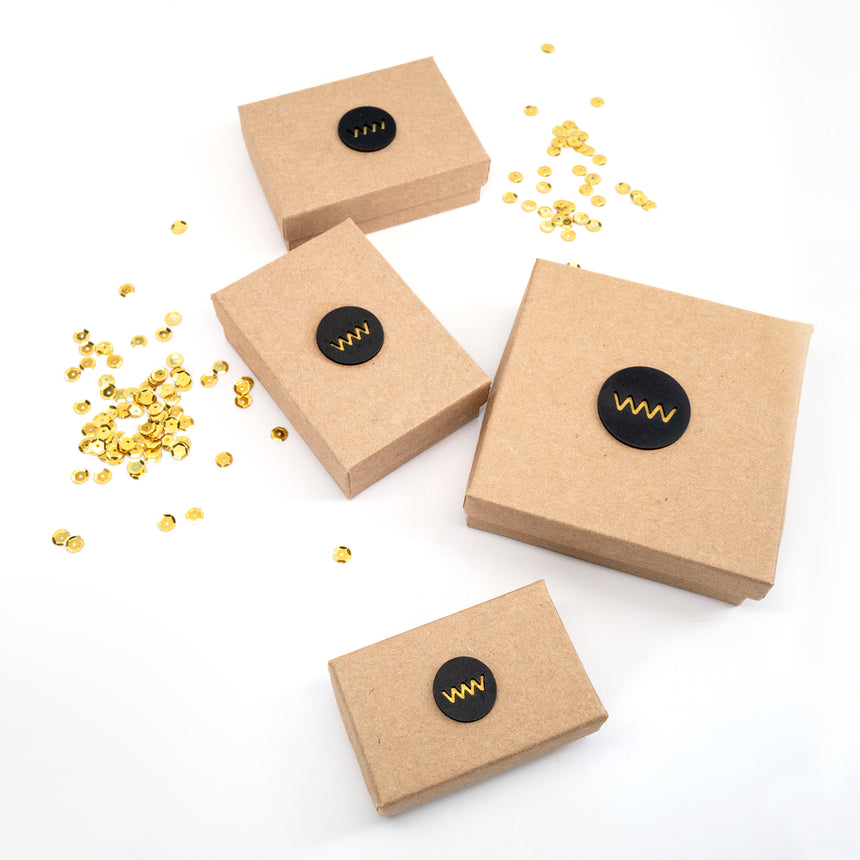 Gift box included in made from recycled paper.