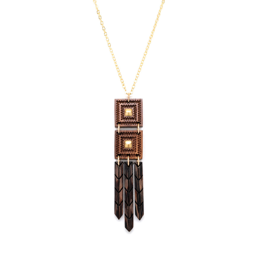 Woven Feathers Necklace