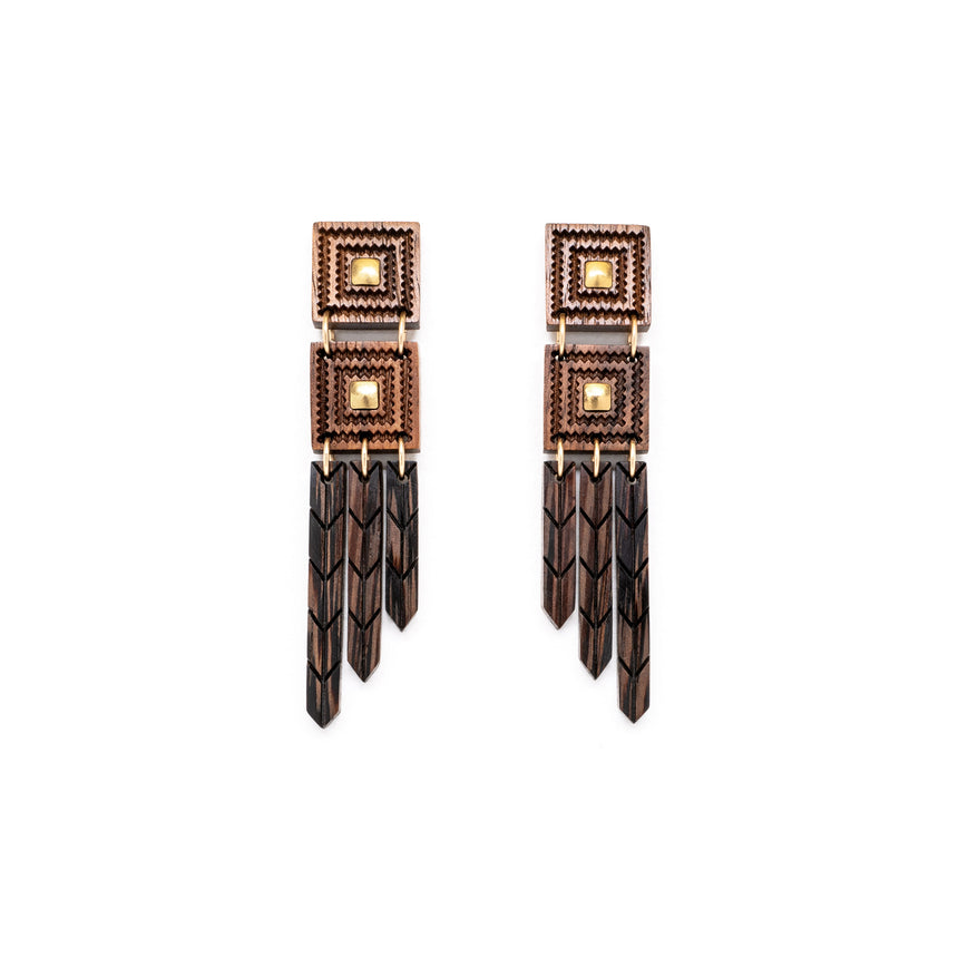 Woven Feathers Post earrings from WENWEN designs