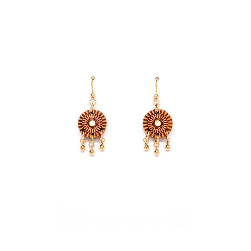 Woven drops earrings from WENWEN designs