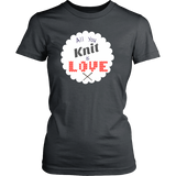 All You Knit is Love - Crew (Click for More Colors) - Handmade Rebellion