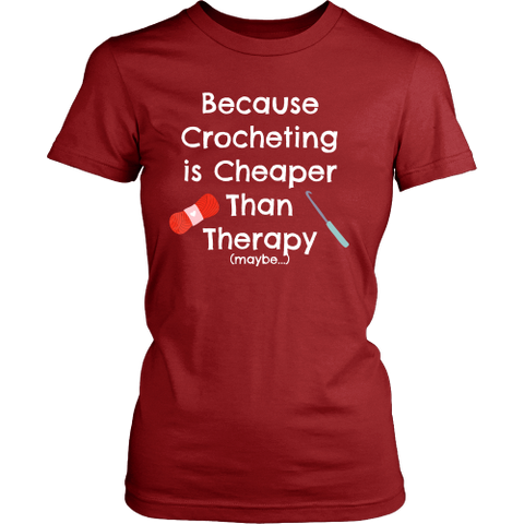 Crocheting is Cheaper Than Therapy - Crew (Click for More Colors!) - Handmade Rebellion