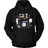 Sewing Circle - Hoodie (Click for More Colors) - Handmade Rebellion