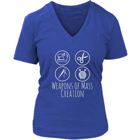 Weapons of Mass Creation - Women's V-Neck (Click for More Colors) - Handmade Rebellion