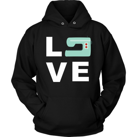 LOVE (Sewing Machine) - Hoodie (Click for More Colors) - Handmade Rebellion