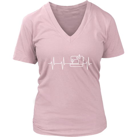 I Heart Sewing - V-Neck (Click for More Colors) - Handmade Rebellion
