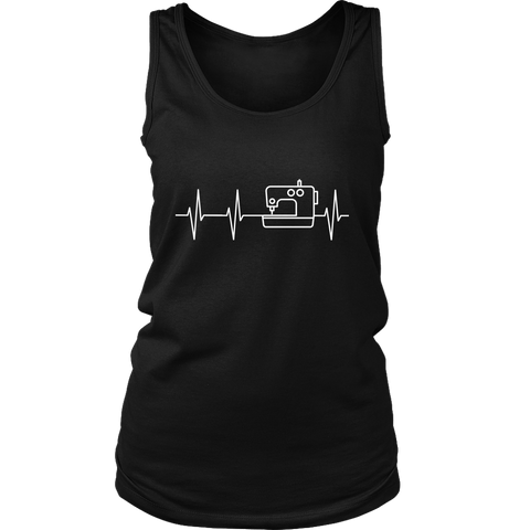 I Heart Sewing - Women's Tank (Click for More Colors) - Handmade Rebellion