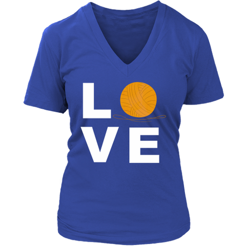 LOVE (Yarn Ball) - V-Neck (Click for More Colors) - Handmade Rebellion