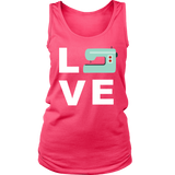 LOVE (Sewing Machine) - Women's Tank (Click for More Colors) - Handmade Rebellion