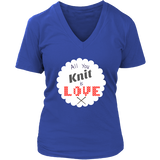 All You Knit is Love - V-Neck (Click for More Colors) - Handmade Rebellion