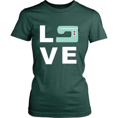 LOVE (Sewing Machine) - Crew (Click for More Colors) - Handmade Rebellion