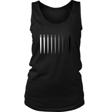 Needle Greyscale Gradient - Women's Tank (Click for More Colors) - Handmade Rebellion