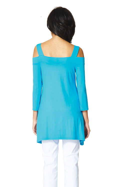 Candace Cold Shoulder Flared Tunic