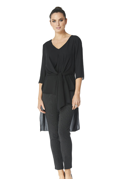 Clara High Low Crepe Tunic