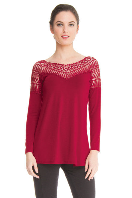 Teri Long Sleeves Flared Top