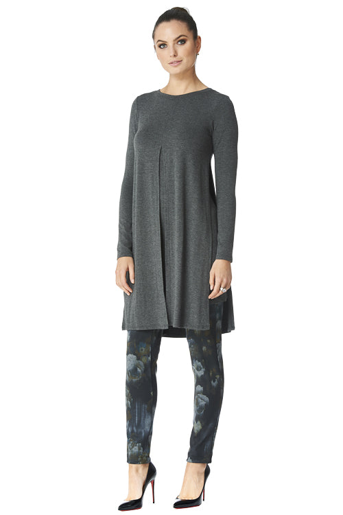 Candace Long Sleeve Front Slit Tunic