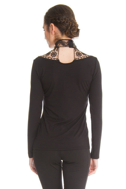 Teri Long Sleeve High Collar Top