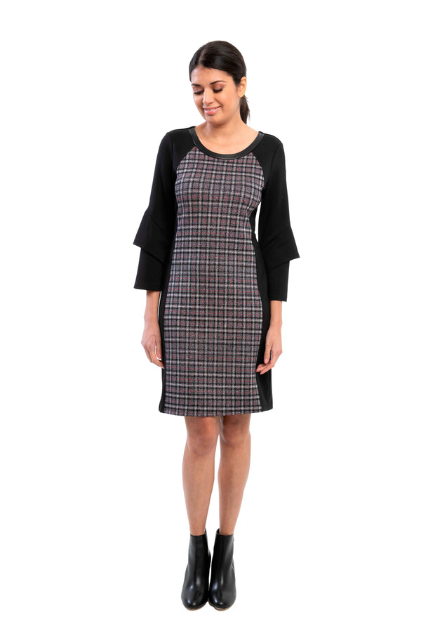 Argenta - 8098 - Jacquard Plaid  Dress