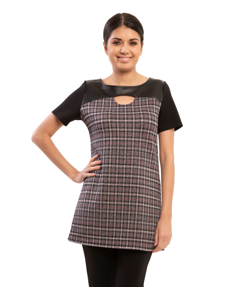 Argenta Jacquard Knit Plaid Tunic