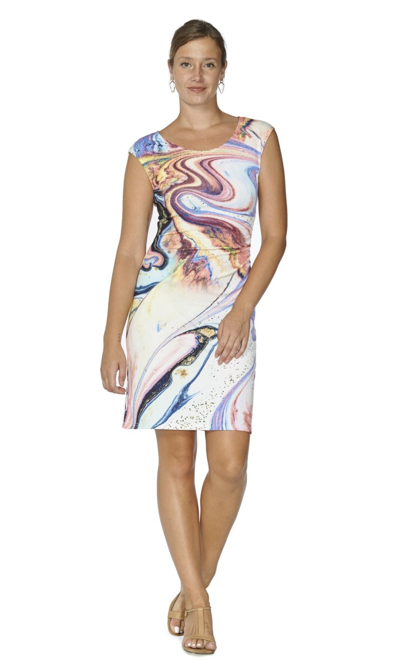 Skye - 8243- Marble Galaxia Dress