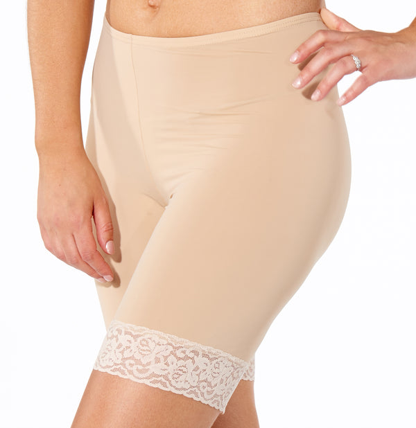 Slips Biker Short With Lace