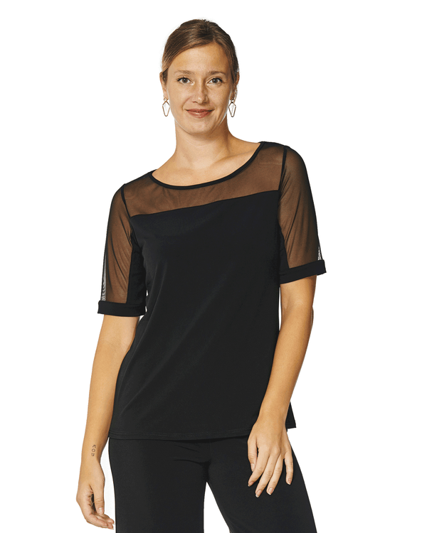 Carmella Elbow Sleeve Top
