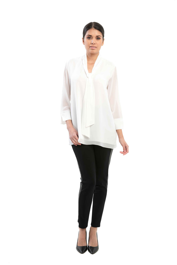 Colette - 7466 - Long Sleeve Tie Blouse