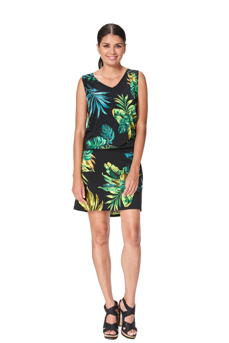 Jungle  Sleeveless Dress