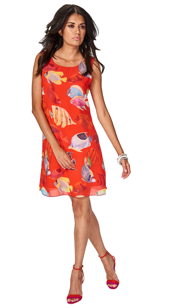 Cozumel - 8726 - Printed Fish Dress