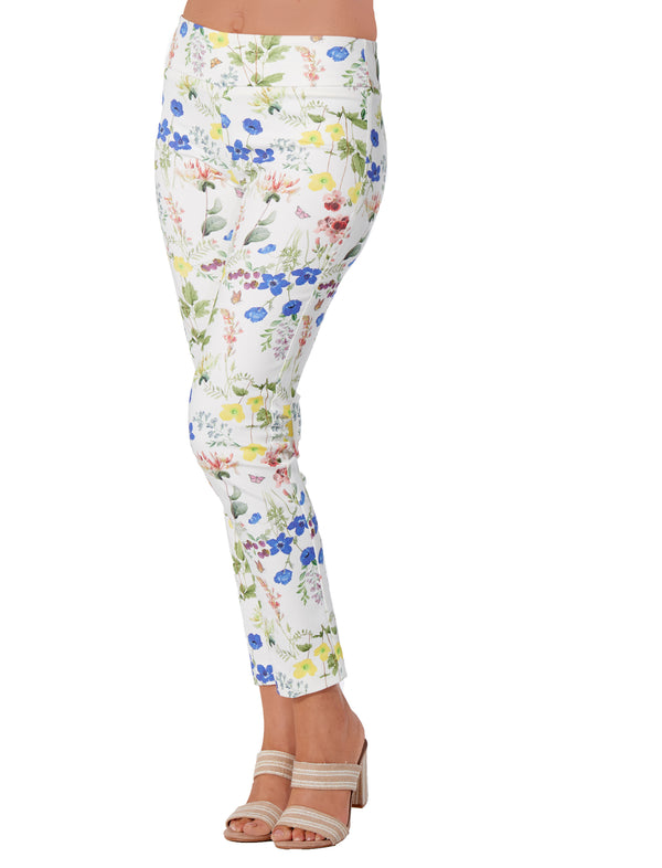 Cobalt Floral - 4242 - Pull-On Pant