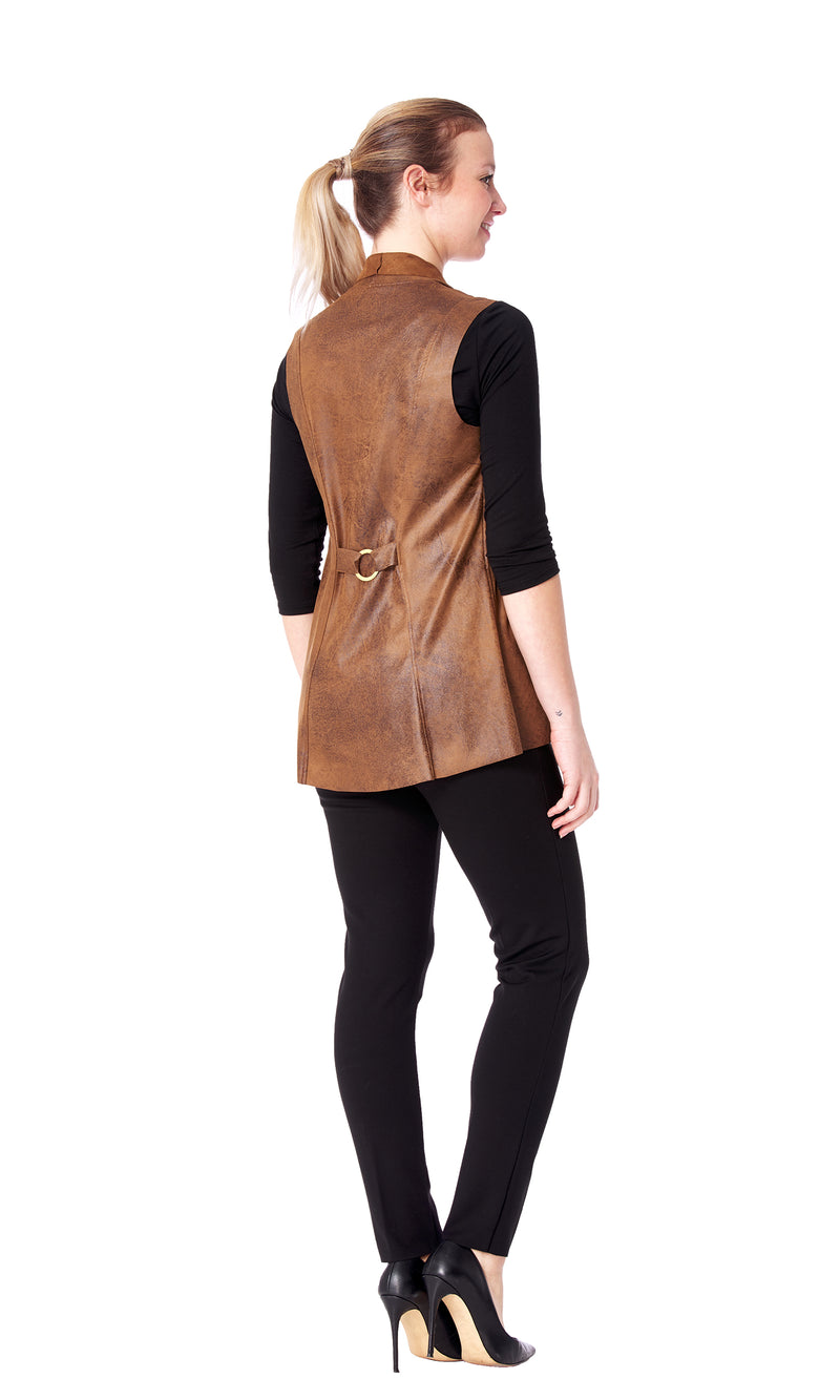 Harley - 5258 - Sleeveless  Faux Leather Vest