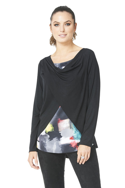 Kim Long Sleeve Rayon Top