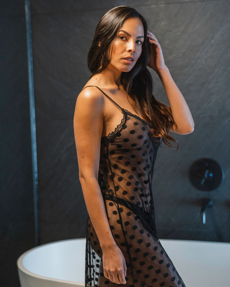 Lexie Maxi See Through Chemise