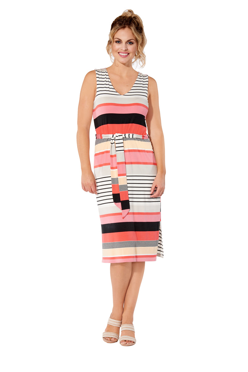 Liv - 8117 -  Side Slits Rayon Dress