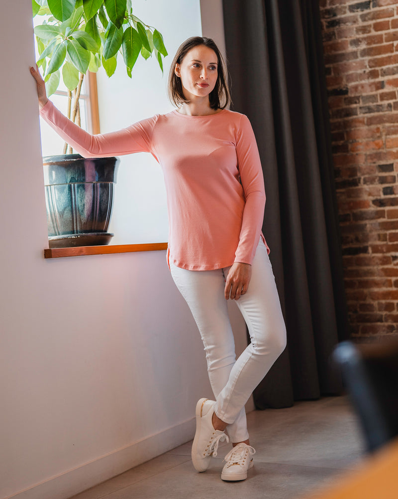 Marie Solid Round Neck Top