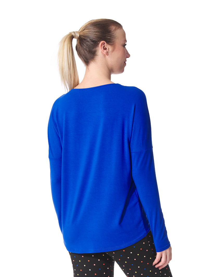 Marie Solid V Neck Top