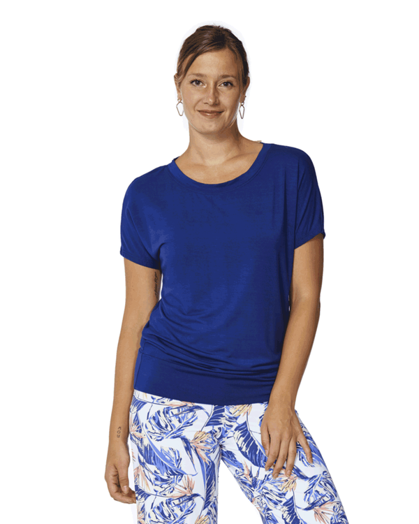 Marie Rayon Loungewear Short Sleeve Top