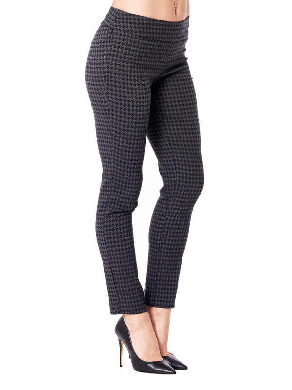 Mini Grey Houndstooth Slim Leg Pant